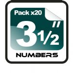"3.5""  Race Numbers - 20 pack"